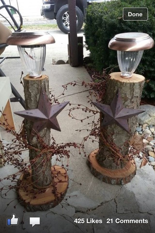 25+ Ideas To Decorate Your Home With Recycled Wood This Christmas - solar christmas decorations