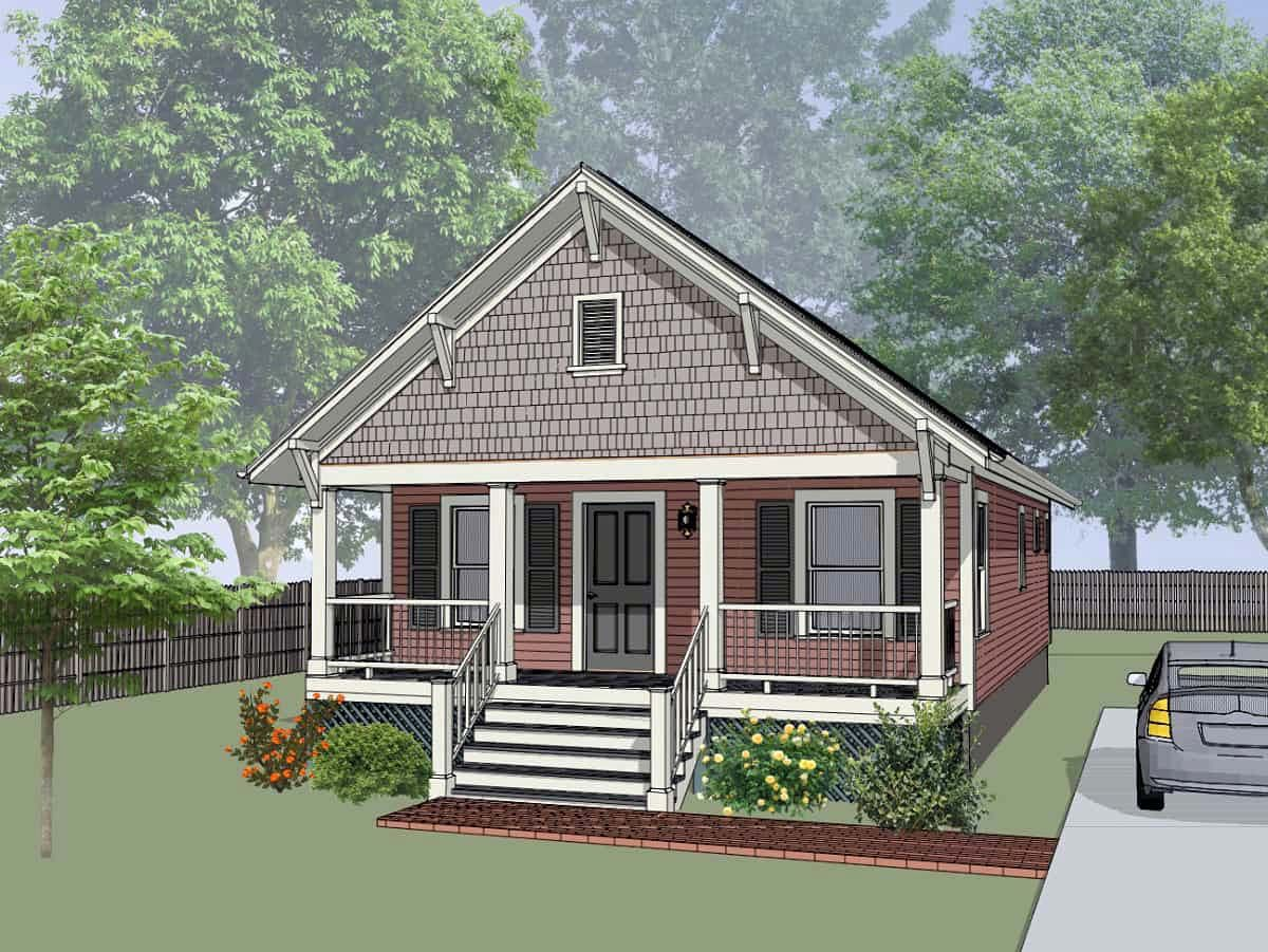 Bungalow Style House Plan 75516 With 2 Bed 1 Bath Bungalow Style House Plans Cottage Style House Plans House Plans