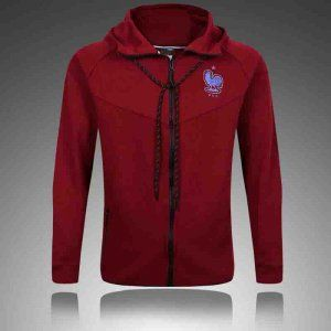 cheaper fba69 a33c7 France National Team 2017 Red Sweater Hoodie [J997] | Cheap ...