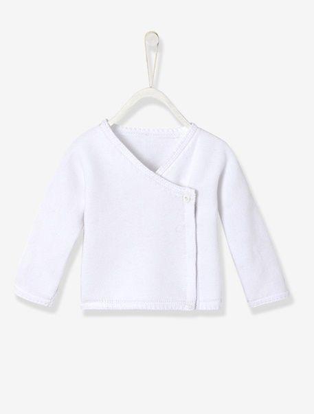 Brassière tricot pur coton Bio Collection - Blanc+Gris clair+Rose pale - 1 e9300acd86f
