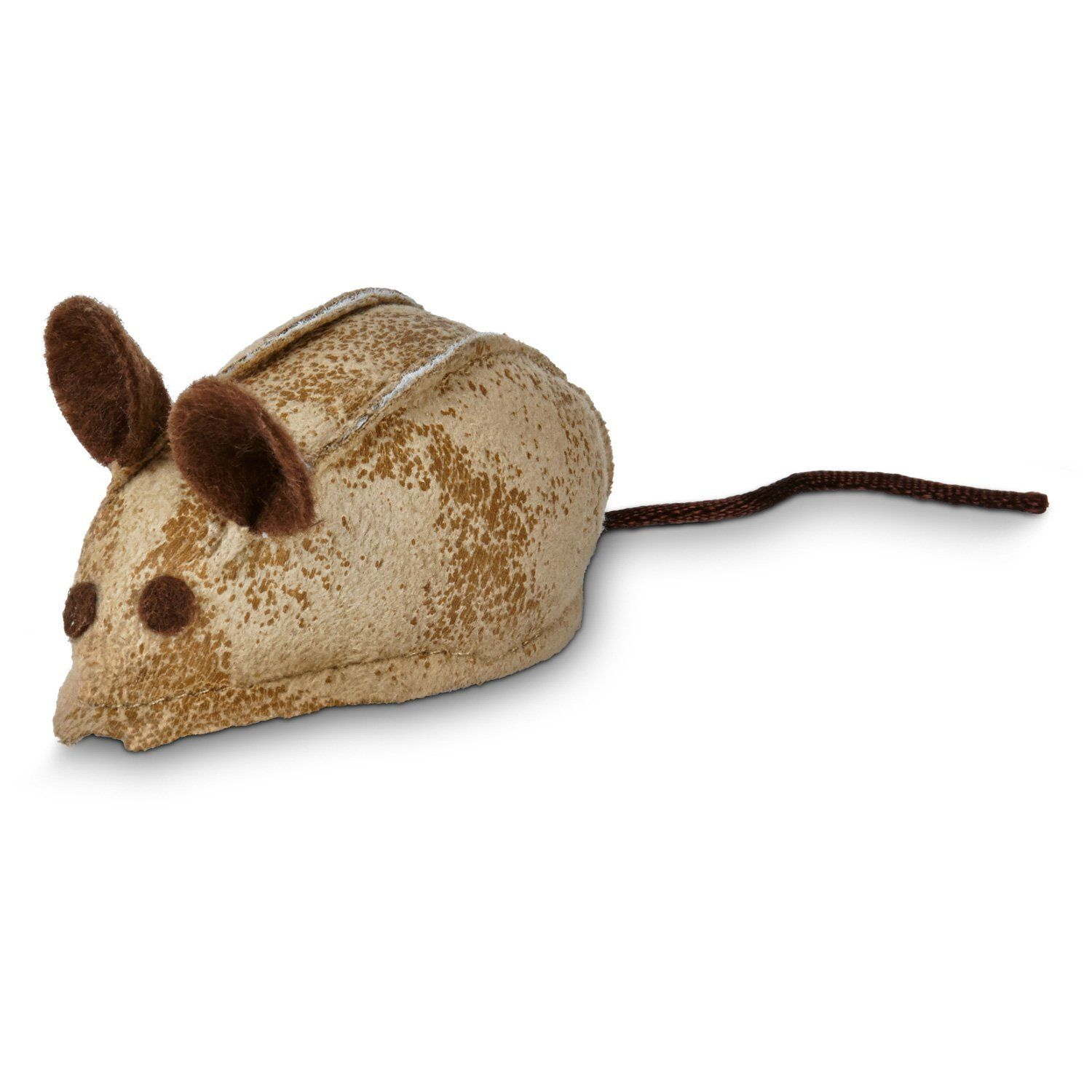 Leaps and Bounds Faux Leather Mouse Cat Toy with Rattle and Catnip , 3' L X 1.5' W ** Unbelievable cat item right here! : Cat toys
