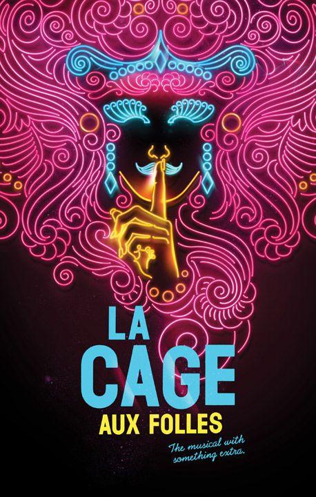 Vintage La Cage aux folles Playbill 1987 by Harvey