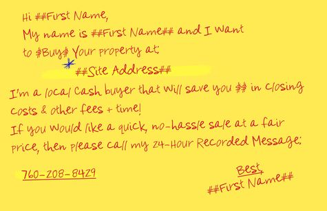 Gobig Yellow Letter I Buy Houses Jumbo 01 0 53 Http Www Gobigyellowletter Com I Buy Houses Jumbo 01 Home Buying We Buy Houses Real Estate Education