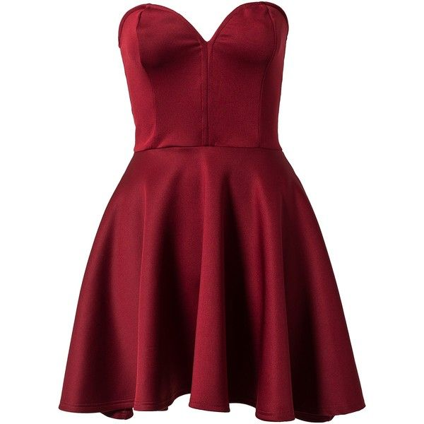 Club L Bone Detail Skater Dress featuring polyvore women's fashion clothing dresses vestidos short dresses robes party dresses aubergine womens-fashion skater skirt skater skirt dress red circle skirt red skater skirt red dress