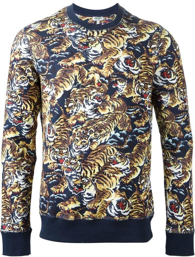 f4d210ff Kenzo 'Flying Tiger' sweatshirt   Shopping List in 2019   Mens ...