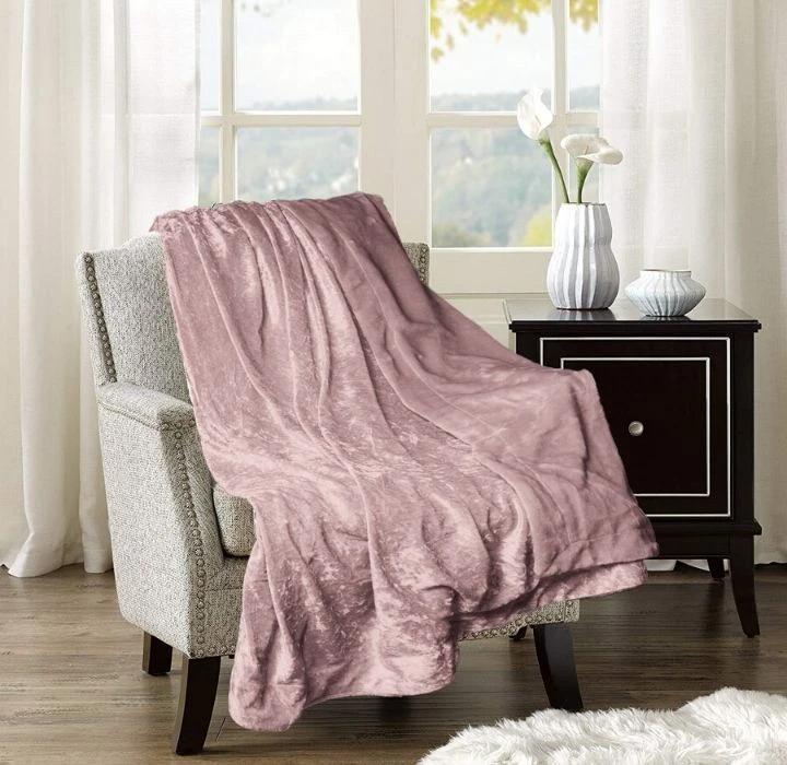 Daily Deal Blankets Crushed Velvet Reversible Throw Blanket – UntilGone.com