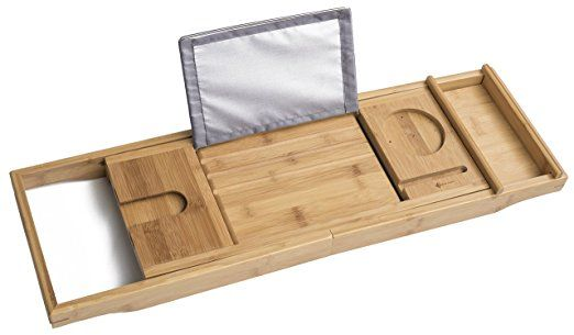 ModernTropic Luxury Bamboo Bathtub Tray and Caddy – Create Your Own ...