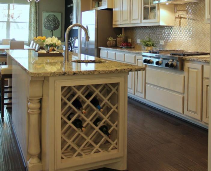 Island 15 Burrows Cabinets Central Texas Builder Direct Custom Cabinets Kitchen Wine Rack Kitchen Bar Kitchen Cabinet Design