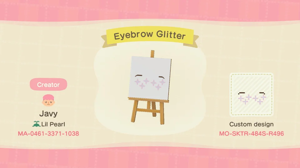 Photo of I also made some eyebrows with cheek glitter for you softies put there