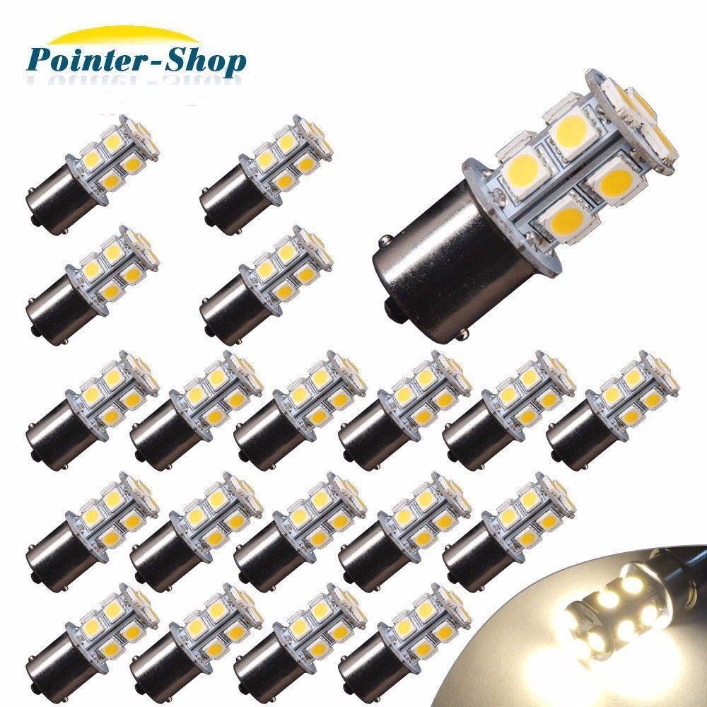 Details About 20x 4300k White 1156 13 Smd Led Interior Light Bulbs Daytime Running Rv 1141 12v Interior Lighting Camper Trailers Bulb