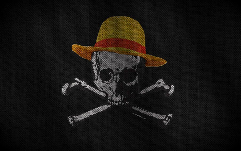 Mugiwara S Jolly Roger By Fogdark Skull Wallpaper Black Skulls Wallpaper Jolly Roger