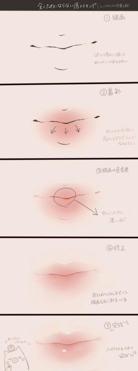 唇メイキング(ただの作業工程)
