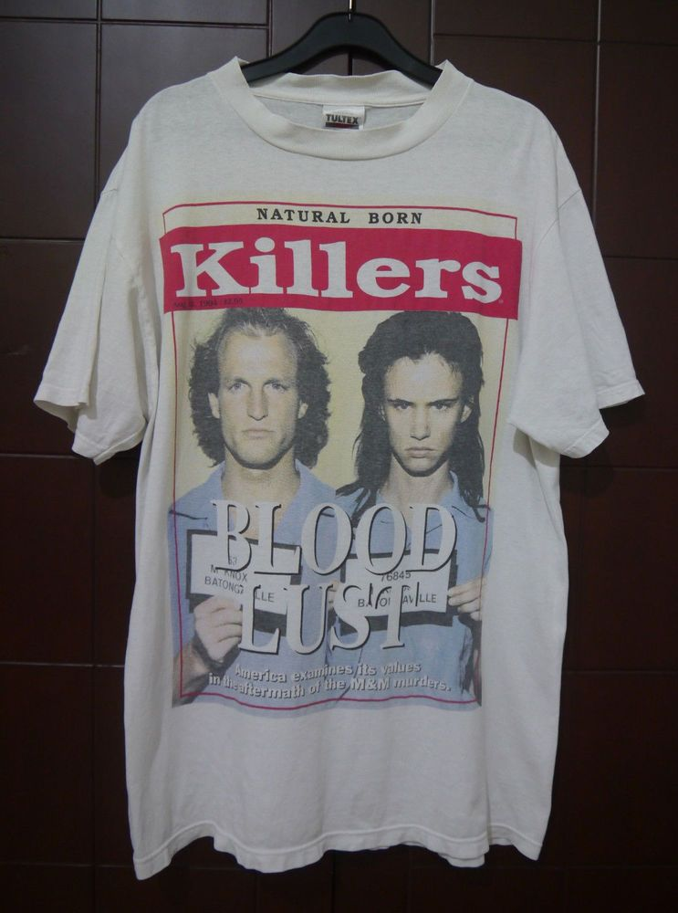 002e916ec26f RARE 1994 NATURAL BORN KILLERS warner bros OLIVER STONE movie t-shirt L7 NIN