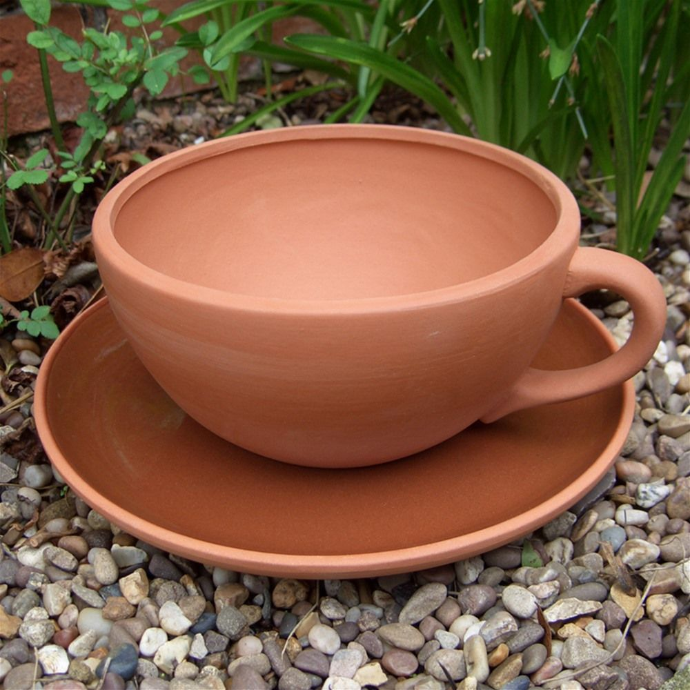 Large Tea Cup Planter Terracotta Planter Giant Tea Cup Planter Garden Ideas Tea