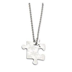 Stainless Steel Polished Puzzle Piece Pendant 22in Necklace (Jewelry)  http://www.amazon.com/dp/B0052LU070/?tag=http://howtogetfaster.co.uk/jenks.php?p=B0052LU070  B0052LU070