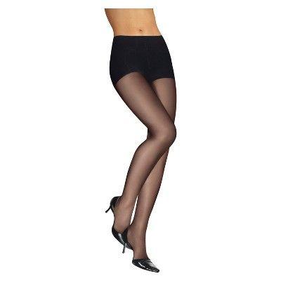 Leggs Womens Silken Mist Control Top Sheer Toe Run Resist Sheer Panty Hose