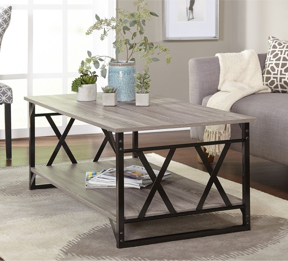 large coffee table black grey reclaimed look cocktail on modern farmhouse patio furniture coffee tables id=78468