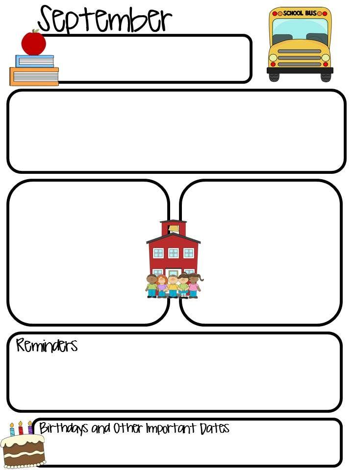 Class Monthly Newsletter **Editable** School ideas Preschool