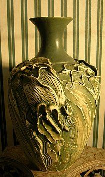 Vases by Anna  Tulips Antique Moss  Color by Oregon4ever on Etsy, $99.00