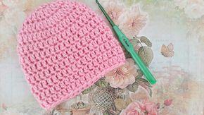 Sehr Einfach Baby Mütze Häkeln Für Anfänger Baby Pinterest