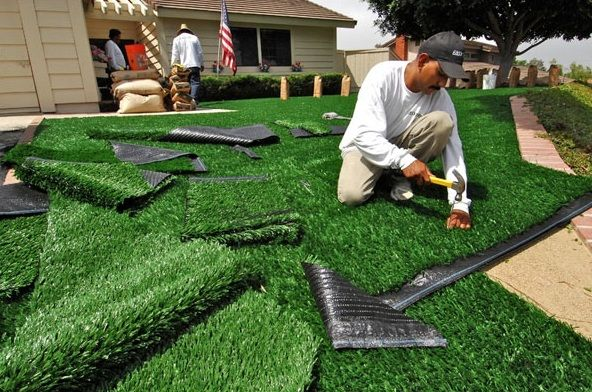 Top 8 Mistakes Diy Artificial Turf Installers Make Artificial Grass Installation Artificial Turf Backyard Artificial Grass Backyard