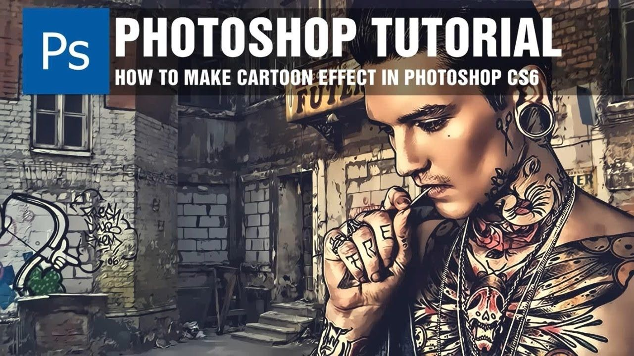 How to make cartoon effect in photoshop cs6 photoshop tutorial how to make cartoon effect in photoshop cs6 baditri Choice Image