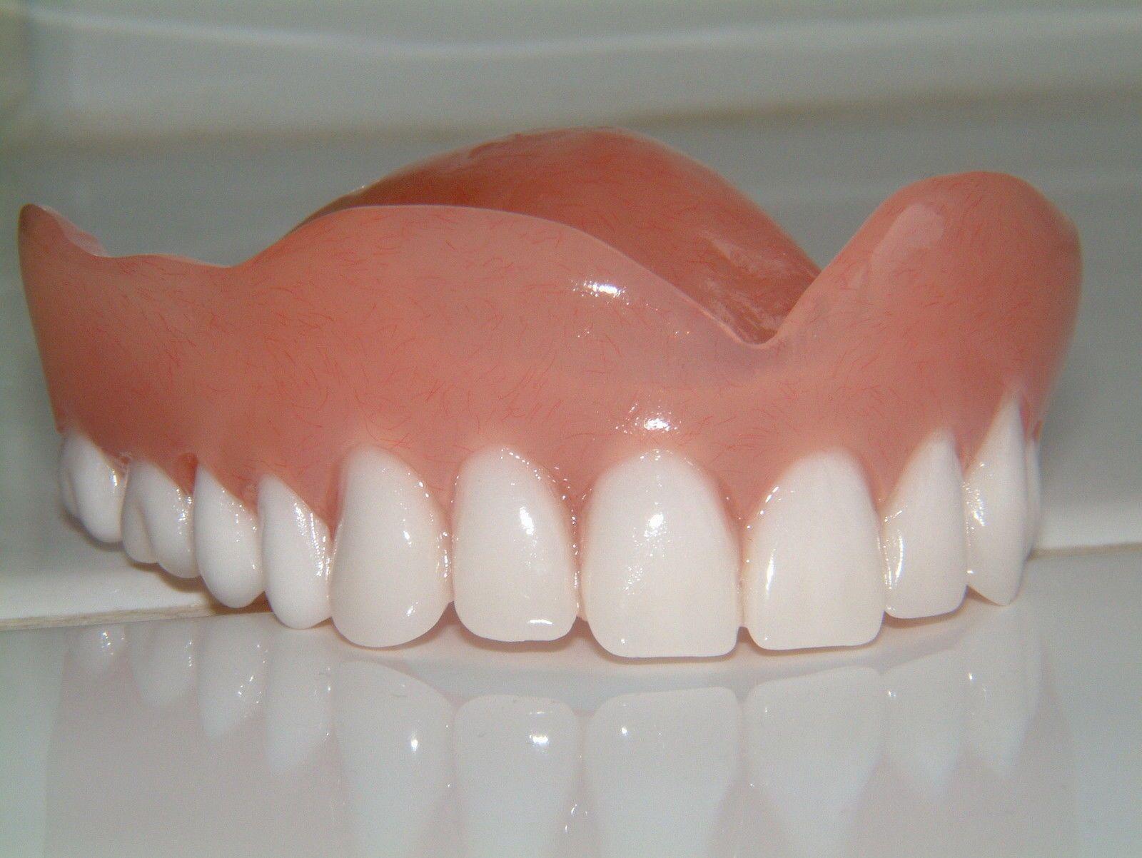 stunning full upper denture  false teeth with ultra white