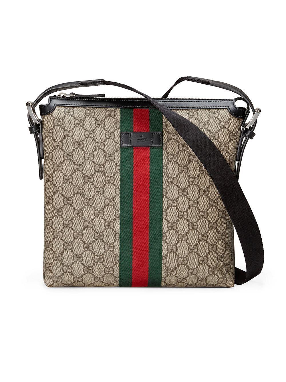 d7f6fb4f Gucci Web GG Supreme messenger - Brown | Products in 2019 | Gucci ...