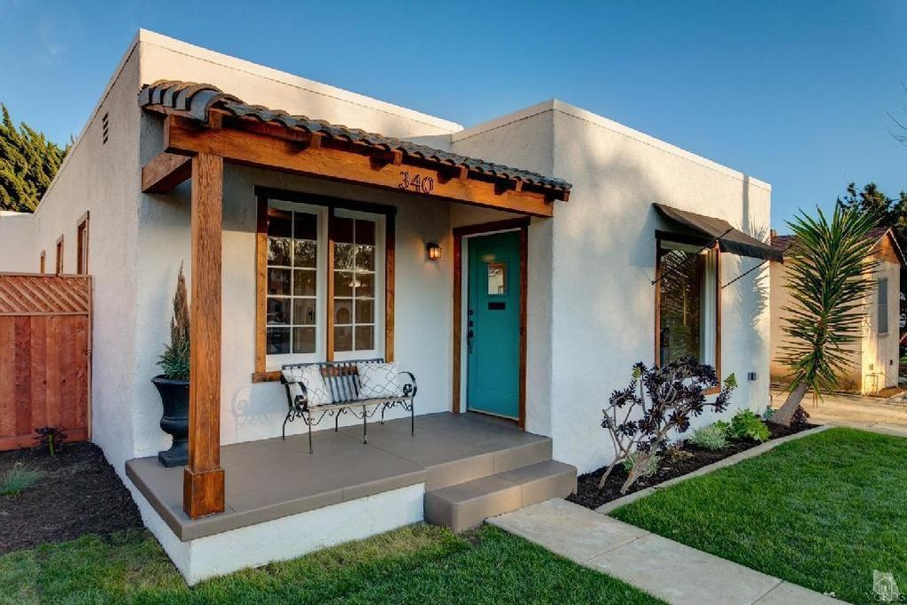 Before and after a sweet spanish bungalow by the beach for Casa bungalow california
