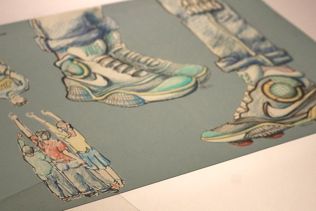 14185a62649c Tinker Hatfield s Original Nike Mag Design Sketches