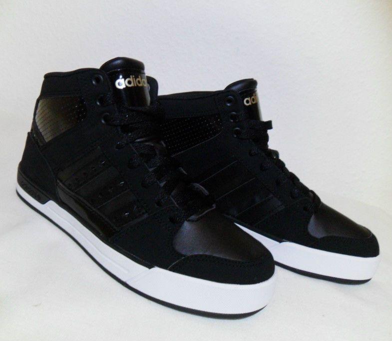98ec21ce7c76a Details about Adidas BB Neo Avenger Womens High Top Black Gold ...