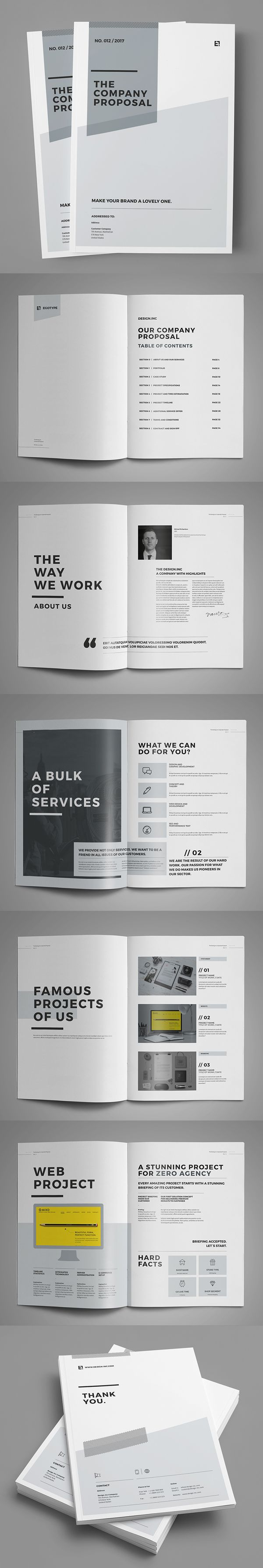Minimal And Professional Proposal Brochure Template  Design