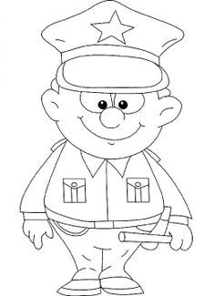 Policeman Fireman Doctor Nurse Etc Pictures To Color Cars Coloring Pages Police Crafts Coloring Pages