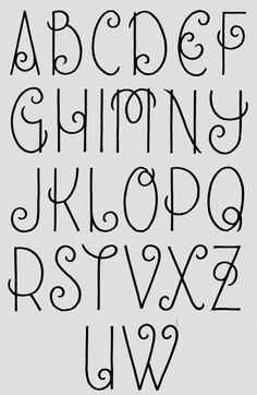 Ecriture Stylée Alphabet schweineschwänzchen | coloring pages / how to draw | pinterest