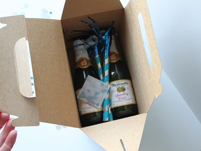 New Years Eve in a boxcute idea for an invite or a party favor