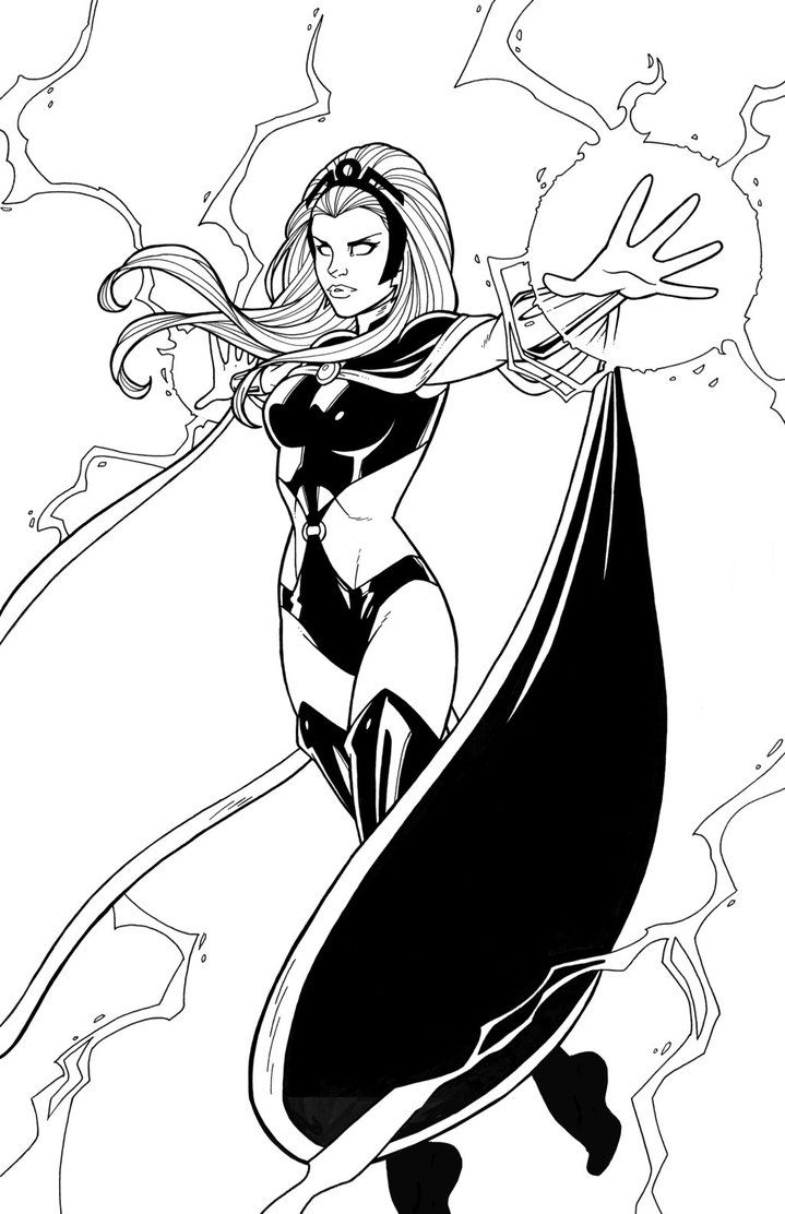 Storm 2011 By Jamiefayx On Deviantart Marvel Coloring Cartoon Coloring Pages Avengers Coloring