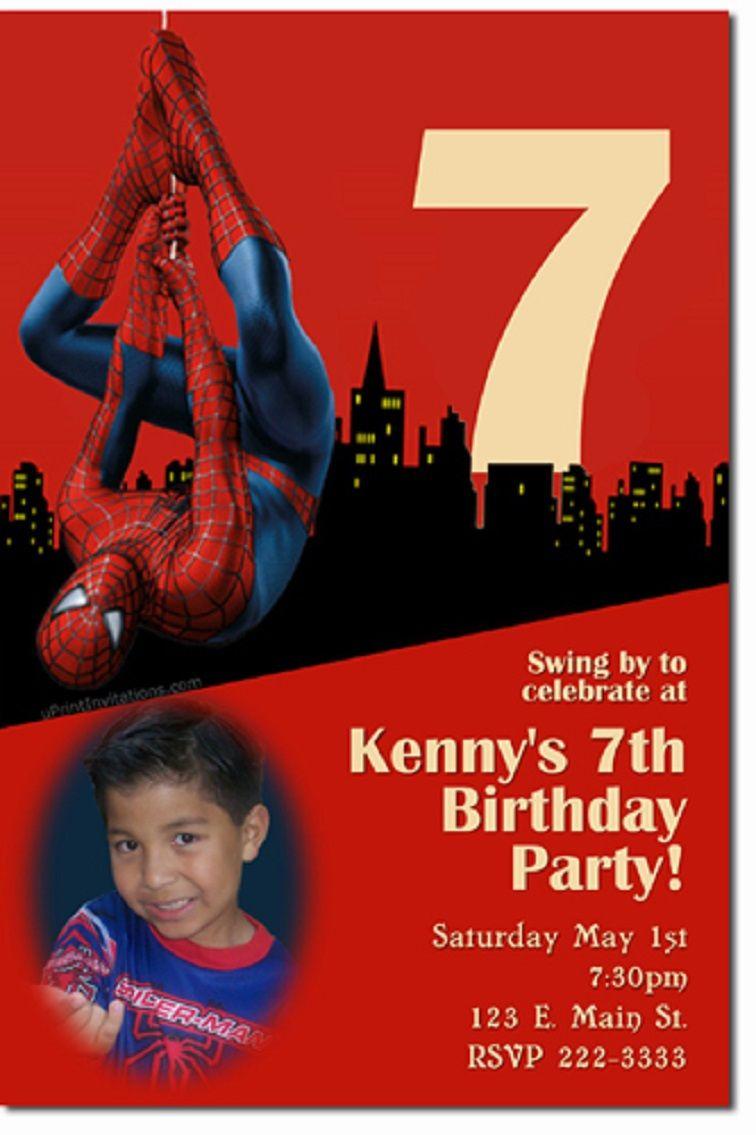 Spiderman Birthday Invitations Birthday Party Invitation Wording