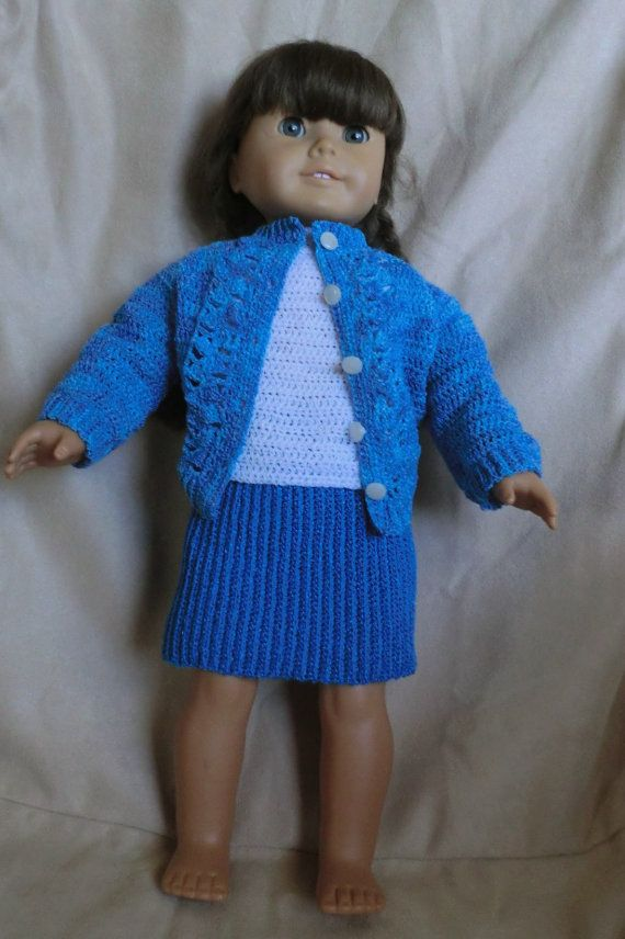 147 Button Down Sweater Set - Crochet Pattern for American Girl ...