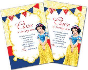 Snow White Invitation Snow White Birthday Invitation Snow Branca