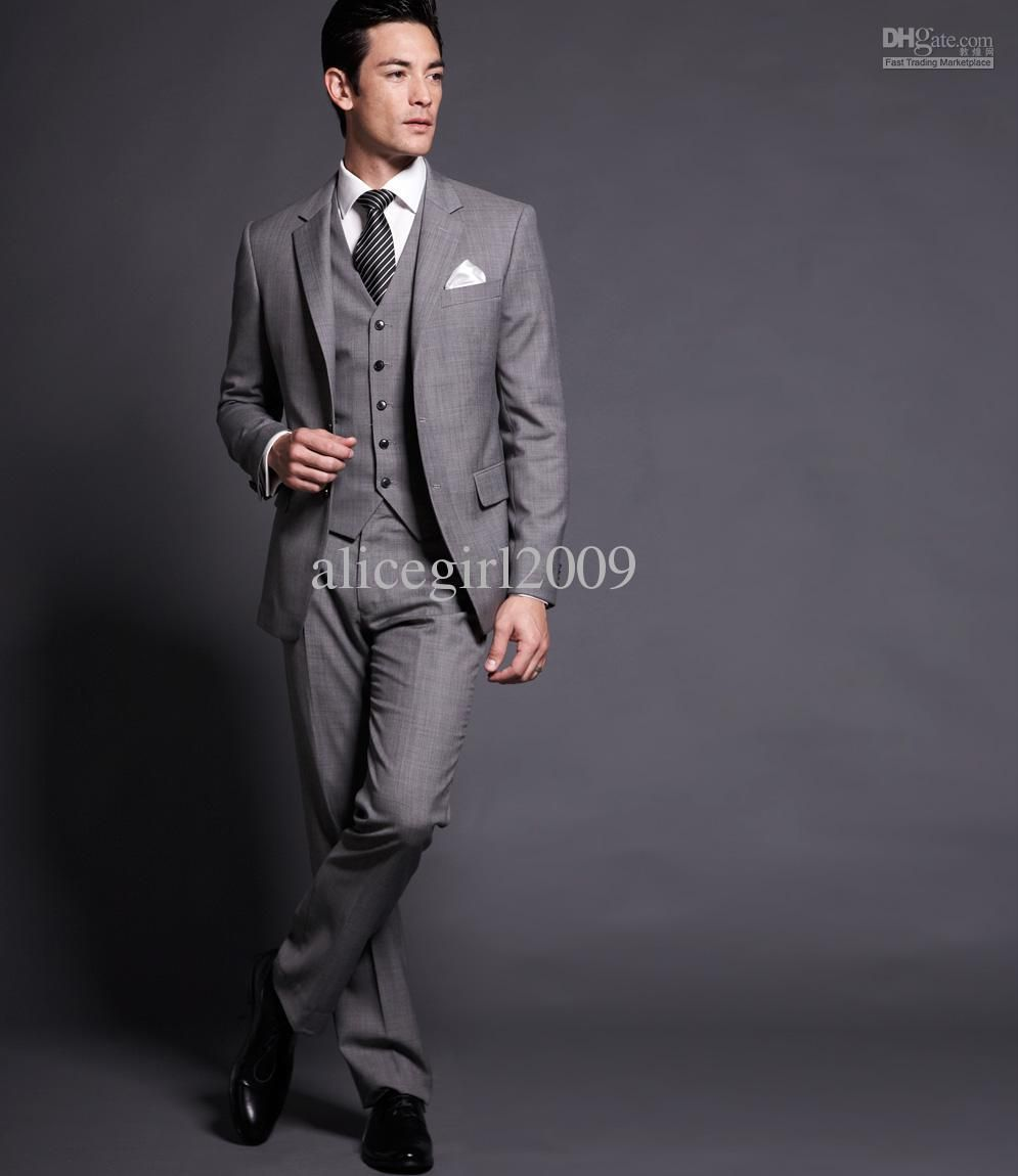 Fashional free shipping! suit for sale,custom made Light Gray ...