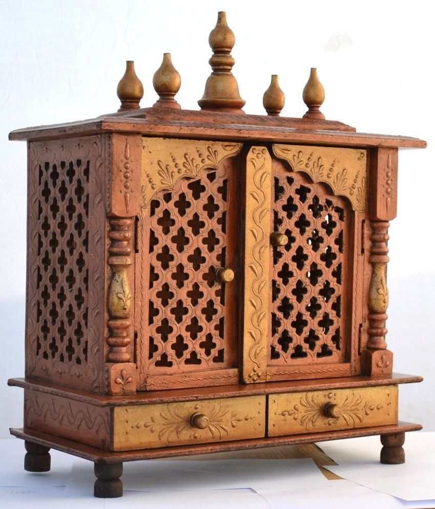 wooden puja cabinet - Google Search | Puja Cabinets | Pinterest ...