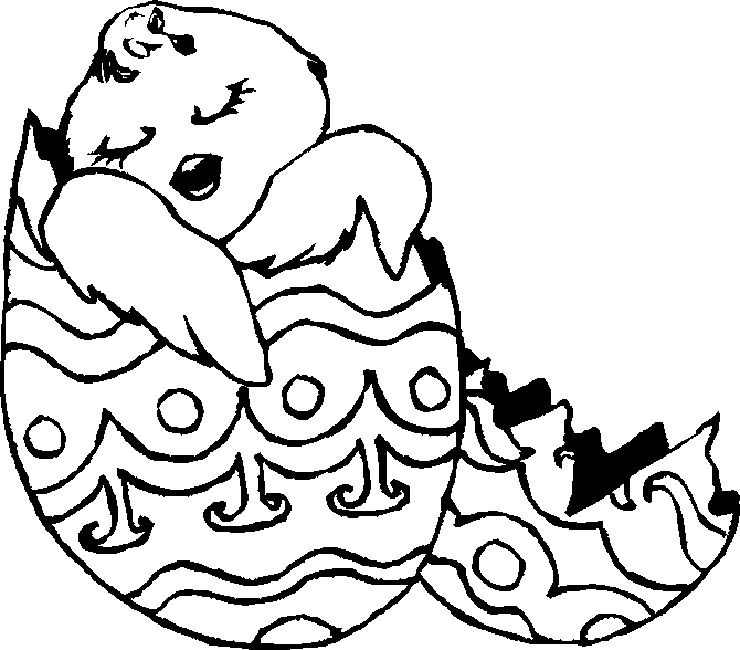 easter coloring pages black and white Egg Pinterest