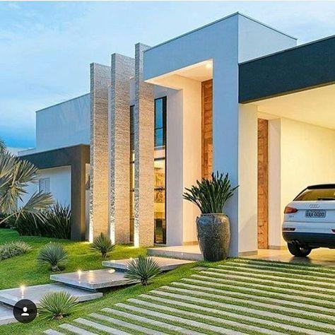 Fachadas de casas modernas ext rieur jardins et maisons - Porches de casas modernas ...