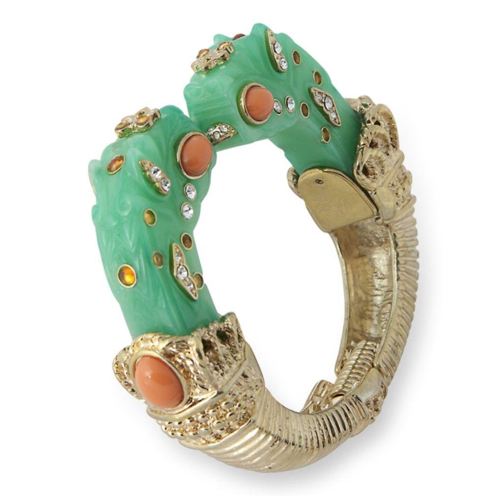 Kenneth Jay Lane Jade Dragon Head Bracelet