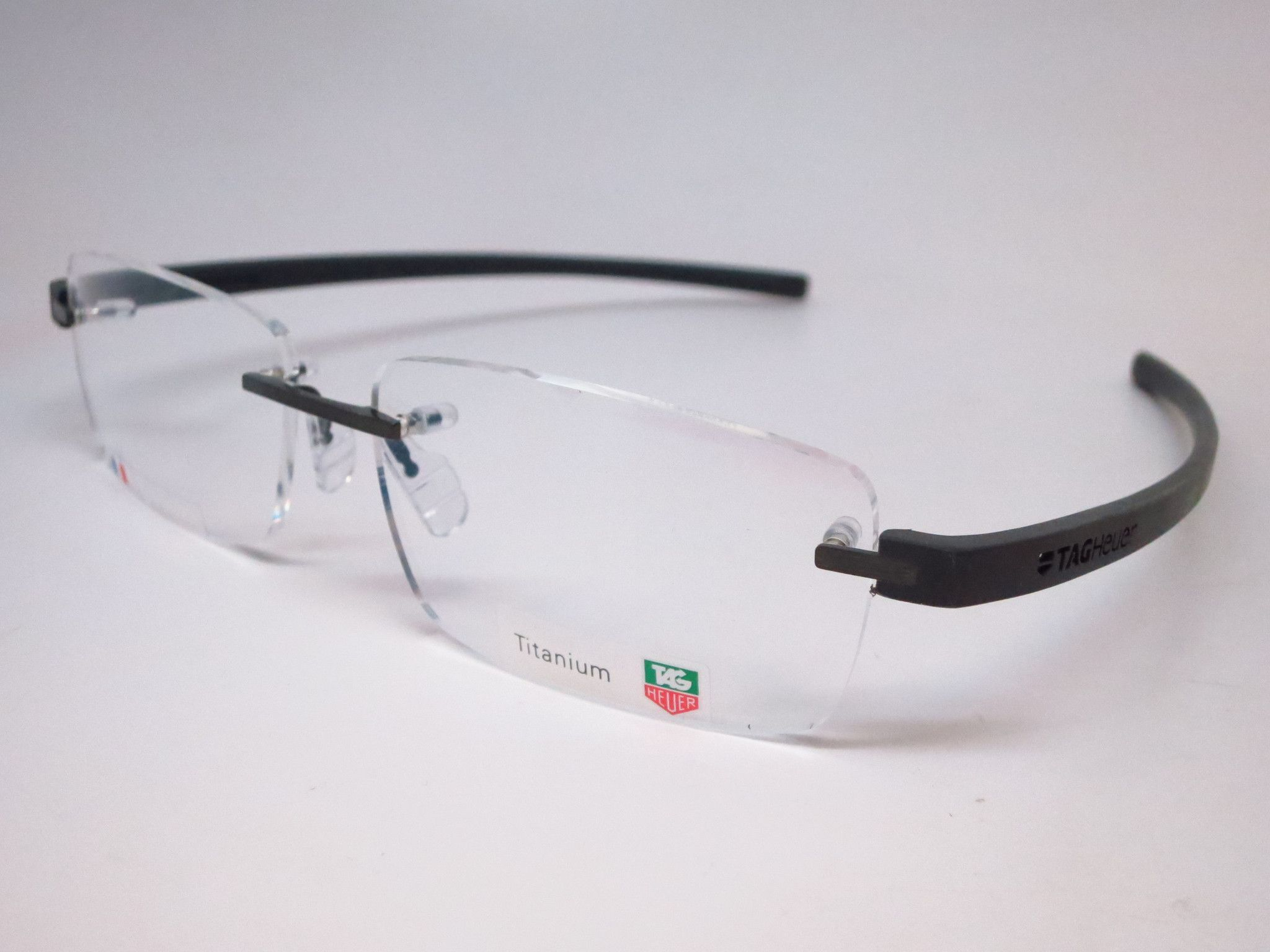 Tag heuer eyeglasses frames uk - Tag Heuer Th 3942 005 Black Gunmetal Reflex 3 Rimless Eyeglasses