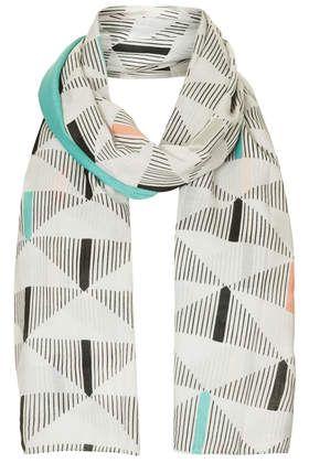 Schal mit geometrischem sowie Folien-Print
