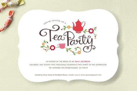 Tea Party Bridal Shower Invitations By Kristen Smith At MintedCom