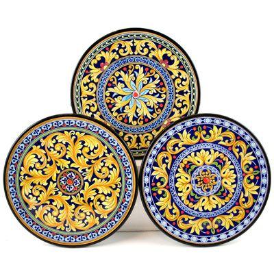 Decorative Hand Painted Plates Set Of 3 Cer Milan 18s3 Hand Painted Plates Painted Plates Hand Painted Ceramics