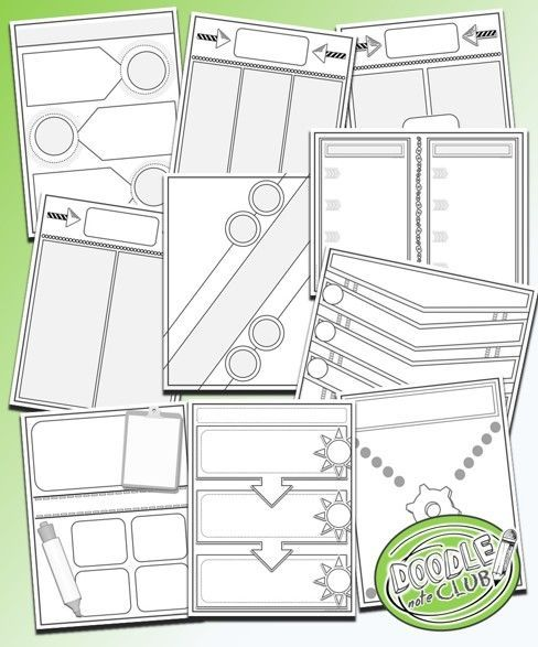 templates to make doodle notes for any classroom doodle note club