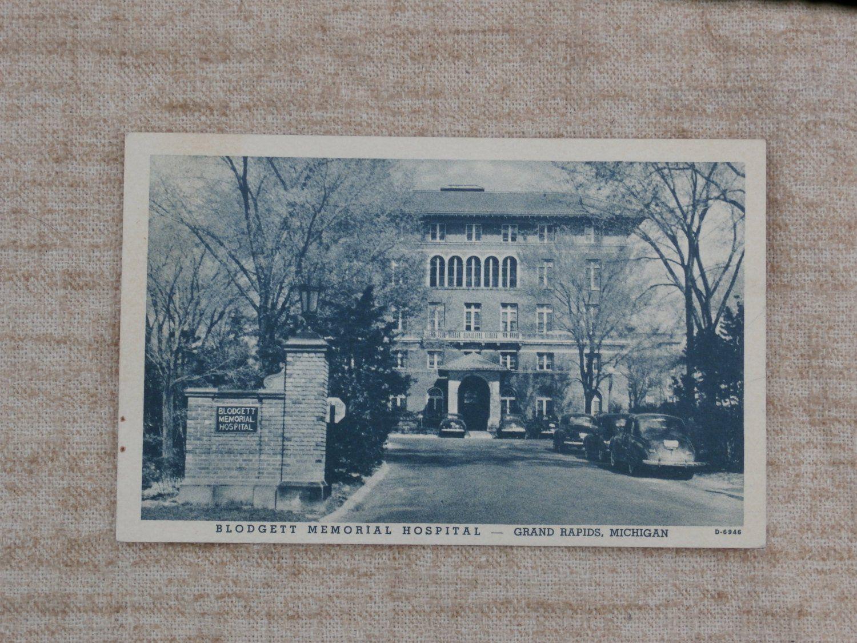 Blodgett memorial hospital grand rapids michigan postcard